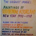The Unquiet Image: Paintings by Vivienne Koorland, New York 1990-1998, 1998