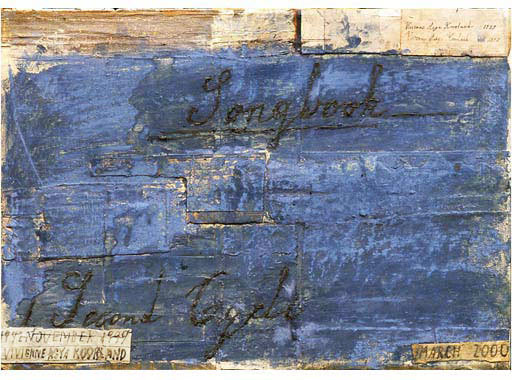 BLUE SONGBOOK DRAWING (SECOND CYCLE), 2000