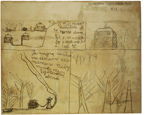 War Drawing IV Ryszard: This Is Our Settlement and This Is Our House, 1991